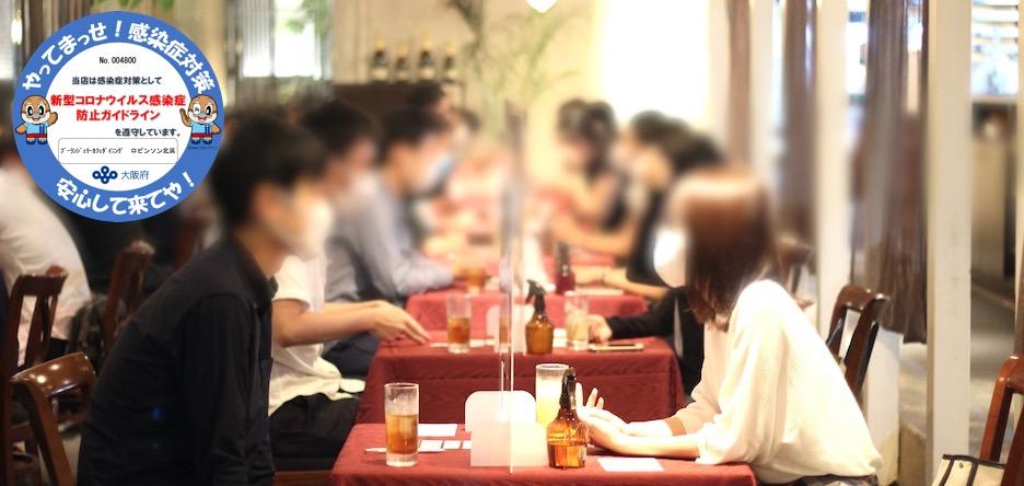 20名☆男性30代限定婚活☆1vs1全員会話のメインイメージ